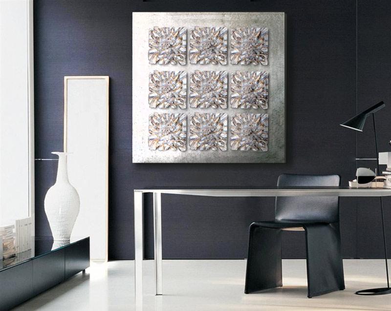 Cuadros online cuadros plateados plata for Cuadros de pared grandes