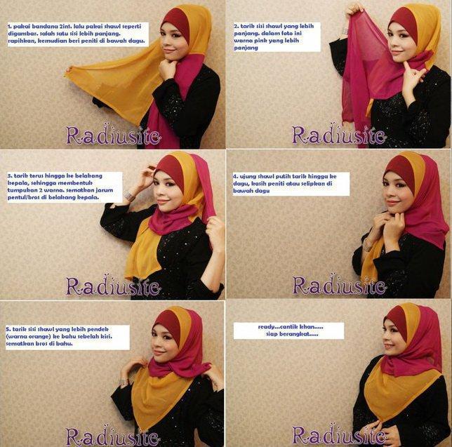 cara memakai shawl modern yang praktis yuk ikuti bagaimana cara
