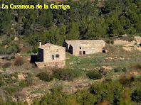 La Casanova de la Garriga des de sota el Turó del Pi de Malla
