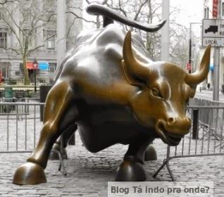 o touro em Wall Street
