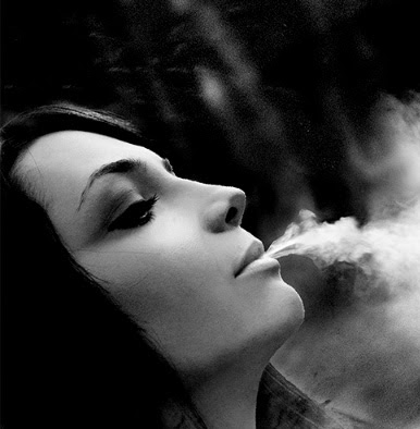 Superb model smoking