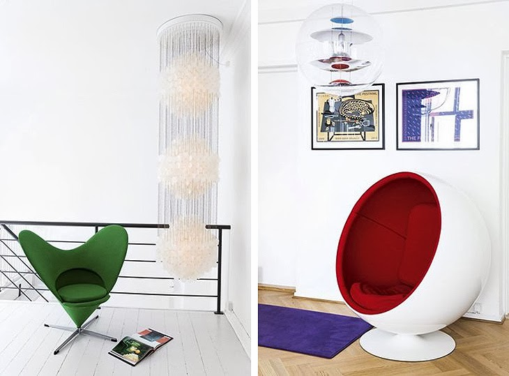 Legendary Panton Designs In A Colorful Funky Interior