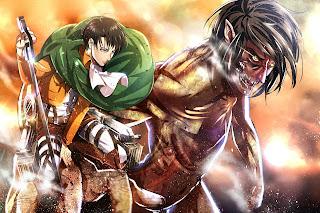 Attack on Titan Shingeki no Kyojin Levi Rivaille Eren Titan Form Anme Sword Blade HD Wallpaper Desktop Background