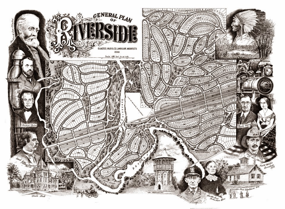 Riverside, Illinois: General Plan of Riverside, by Keith Webster
