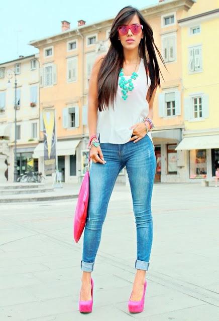 Zapatos Rosa de moda
