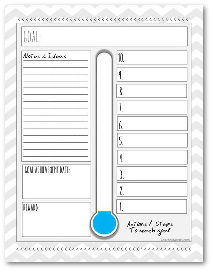 Playful image in printable goal tracker