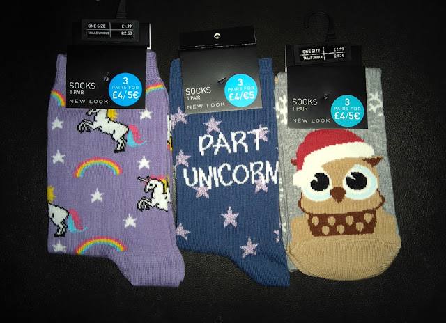 chaussette, licorne, hiboux, New Look, bullelodie