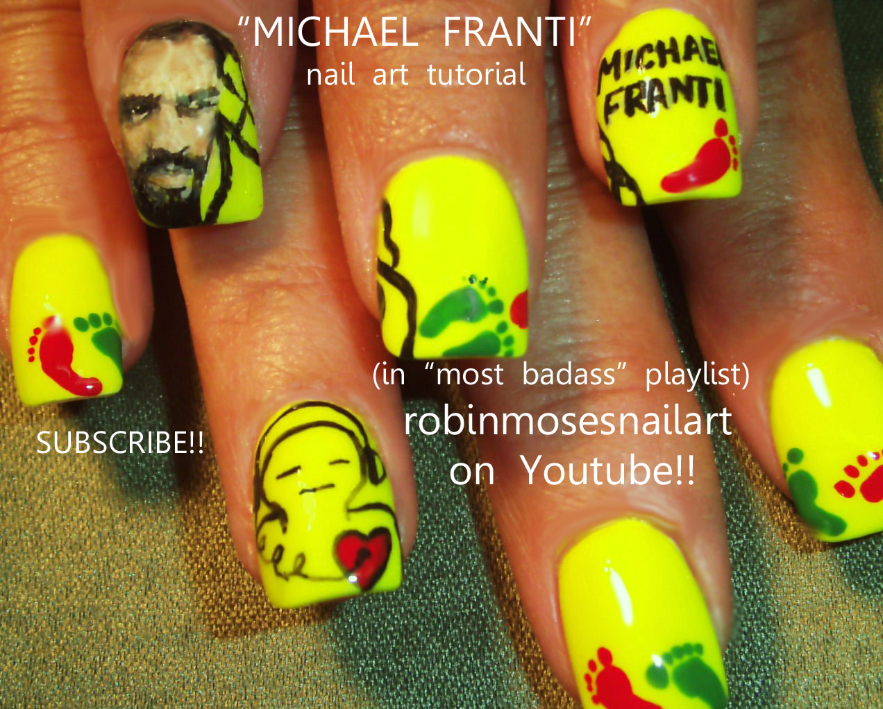Nail Art Design Michael Franti Nail Art Michael Franti Nails