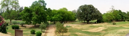 Panoramic view of Lodhi Garden, Delhi
