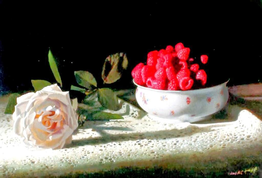 bodegones-con-frutas-pintados-en-realismo-al-oleo