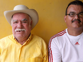CON MI SUEGRO DON ELIGIO CONTRERAS  ( CABALLITO) DE SANTA CRUZ DE MORA MERIDA