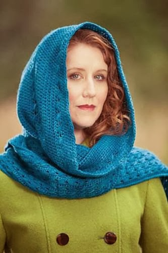 Free Knitting Pattern For A Hooded Scarf : Winnies Creative Corner: WIP Wednesday - Hooded Scarf