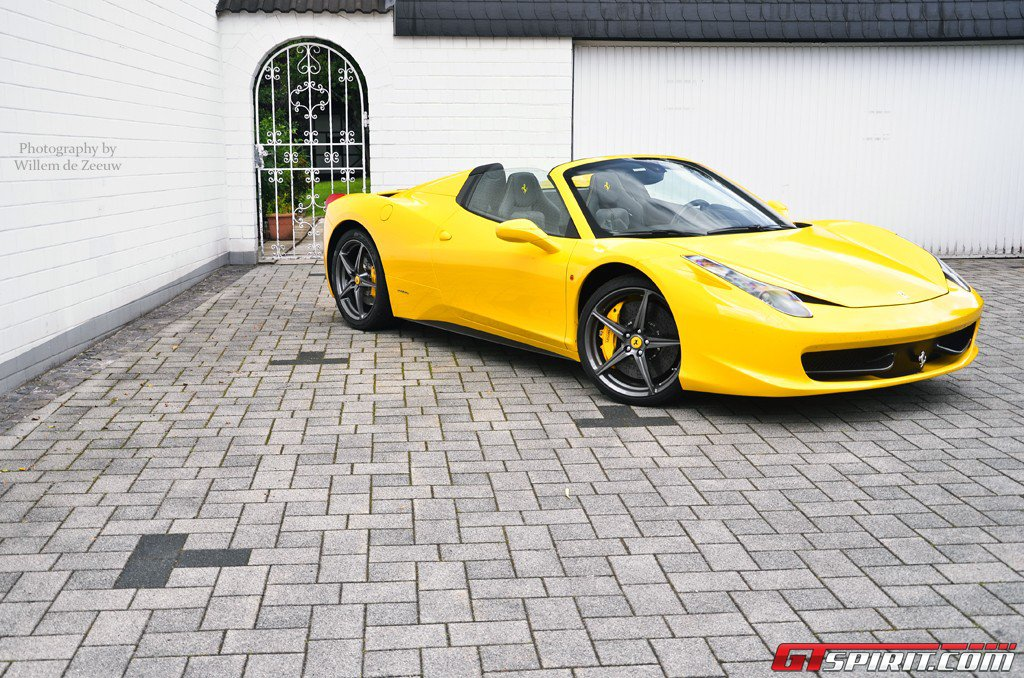 Home Car Style: Yellow Ferrari 458 Spider Photos by Willem ...
