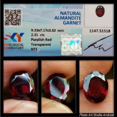 Batu Garnet Almandite + Memo