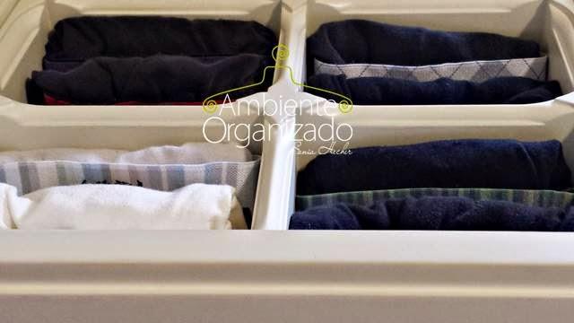 Gaveta de cuecas organizada