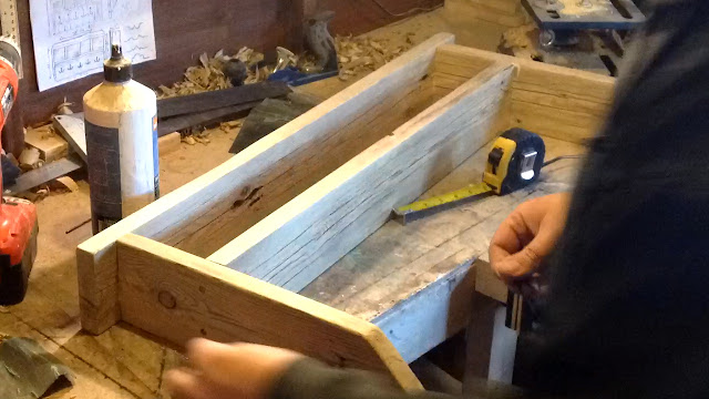 Making the shelf and cubby holes