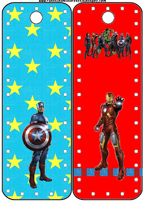 Avengers Free Printable Book Marks