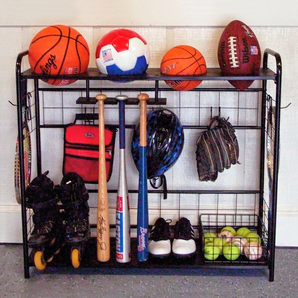 Organized Gift Idea for Father's Day - Sports Equipment Organizer :: OrganizingMadeFun.com