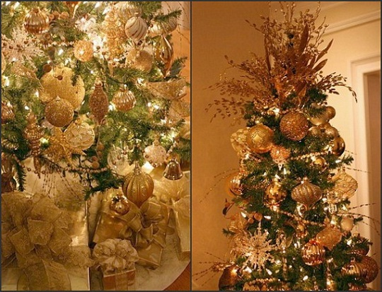 The elegant chateau gold christmas for Gold xmas tree