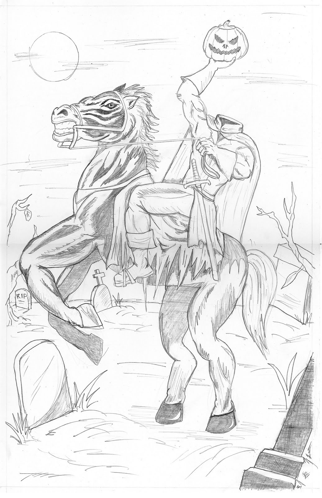Headless Horseman Coloring Page