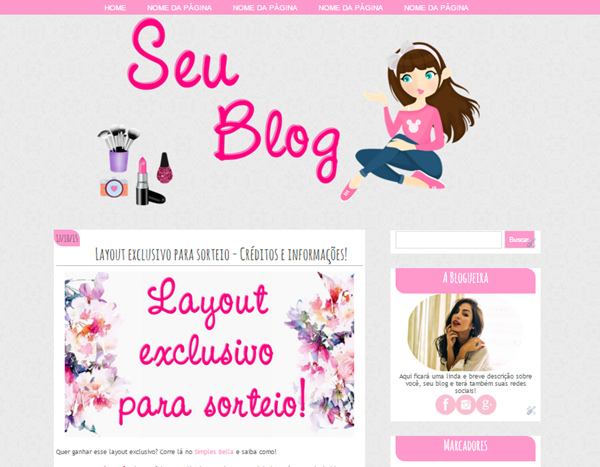 Sorteio: Layout Exclusivo