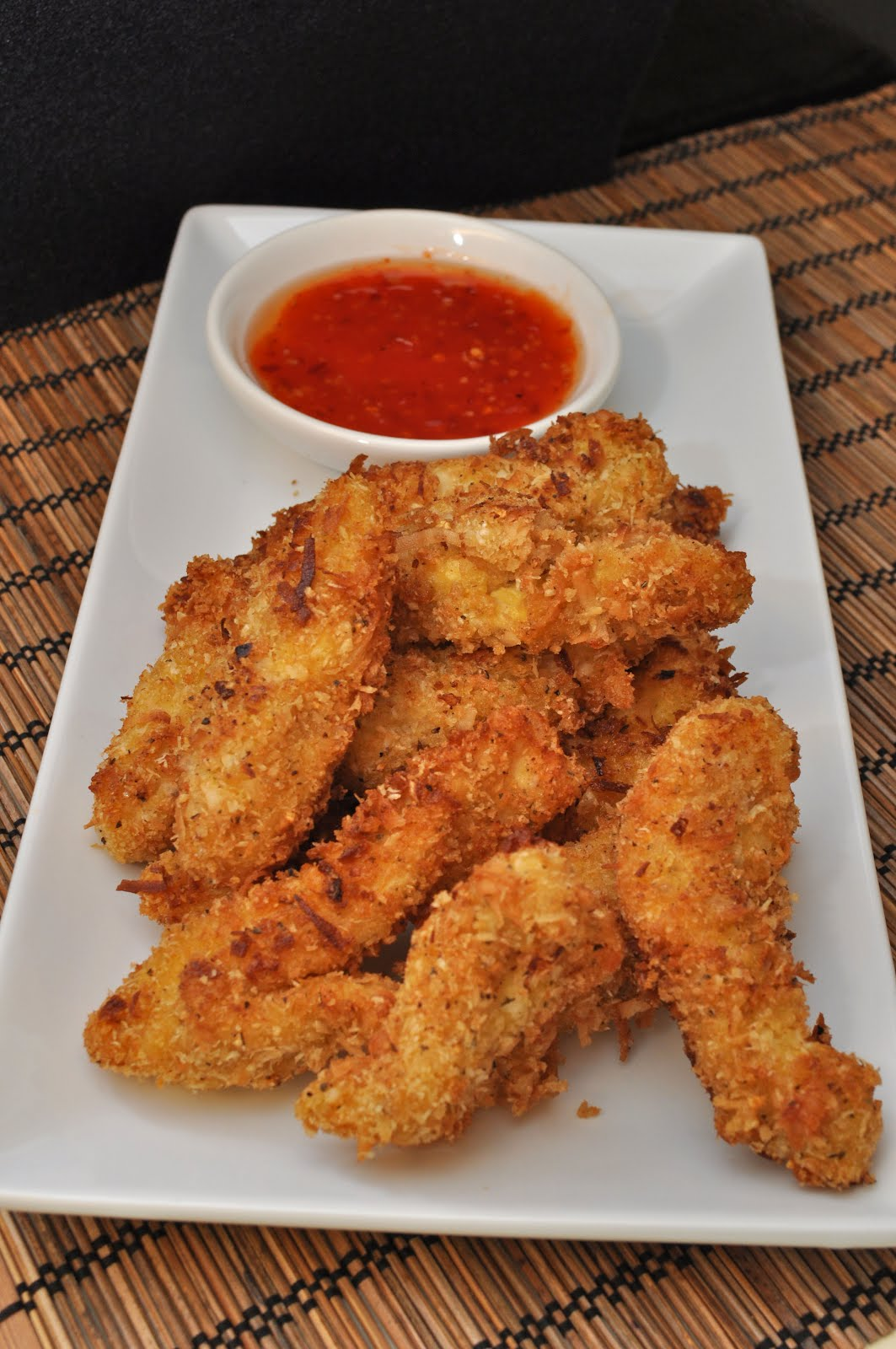 Tummy Temptations: Coconut Chicken Tenders with Sweet Chili Dipping ...