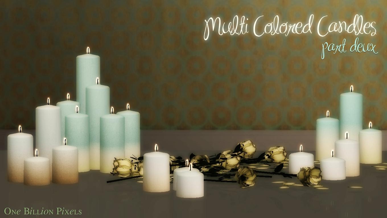 Multi Wick Candles Multi Colored Candles Part Deux One Billion Pixels