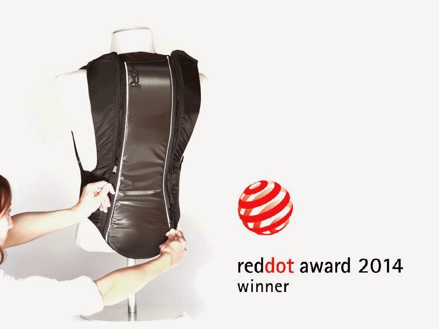 kori coyote back protector backpack red dot award 2014