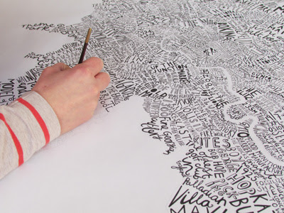 word map of london my latest collaboration with snowhome was launched by angus and the snowhome team at home show a