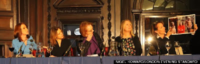 Female panellists at the London Press Club event: Women in the media