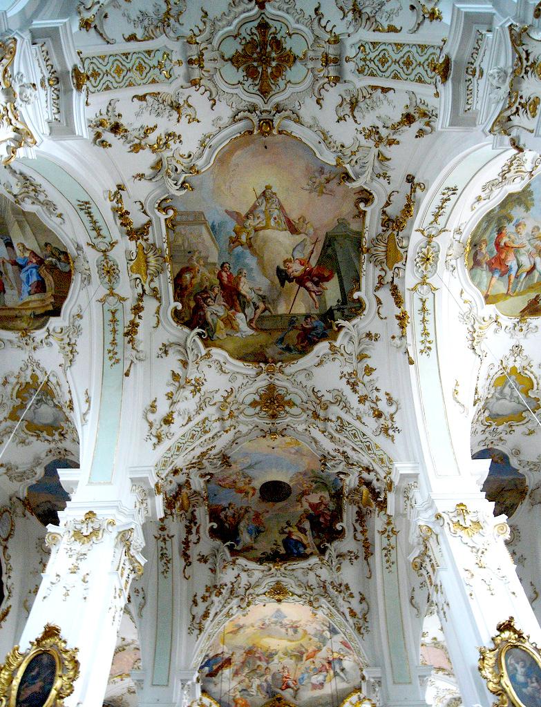 Германия,церковь,Rottenbuch, Oberbayern,архитектура,скульптуры,фрески