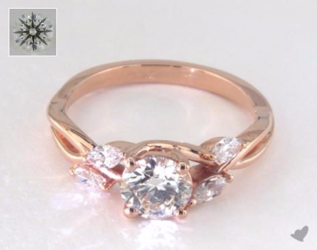 Rose Gold Engagement Rings Under $3000