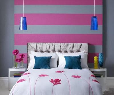 Desain Kamar tidur anak perempuan remaja pink minimalis