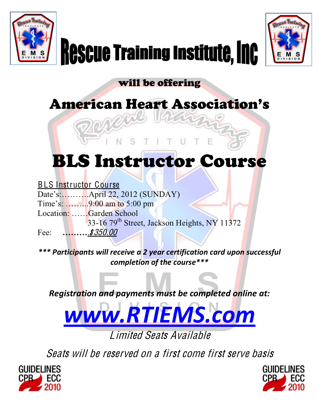Nyu Op Preprofessional Bulletin Aha Bls Cpr Instructor Course