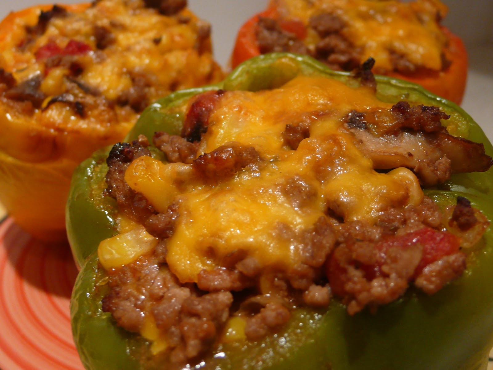Stuff it! Low Carb Cheesey Stuffed Peppers Recipe - Carmen ...