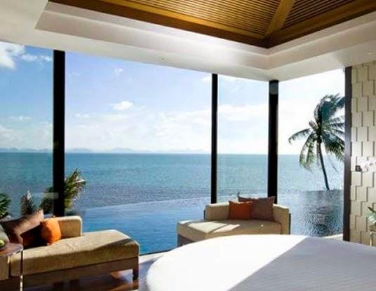 ruangan menghadap laut