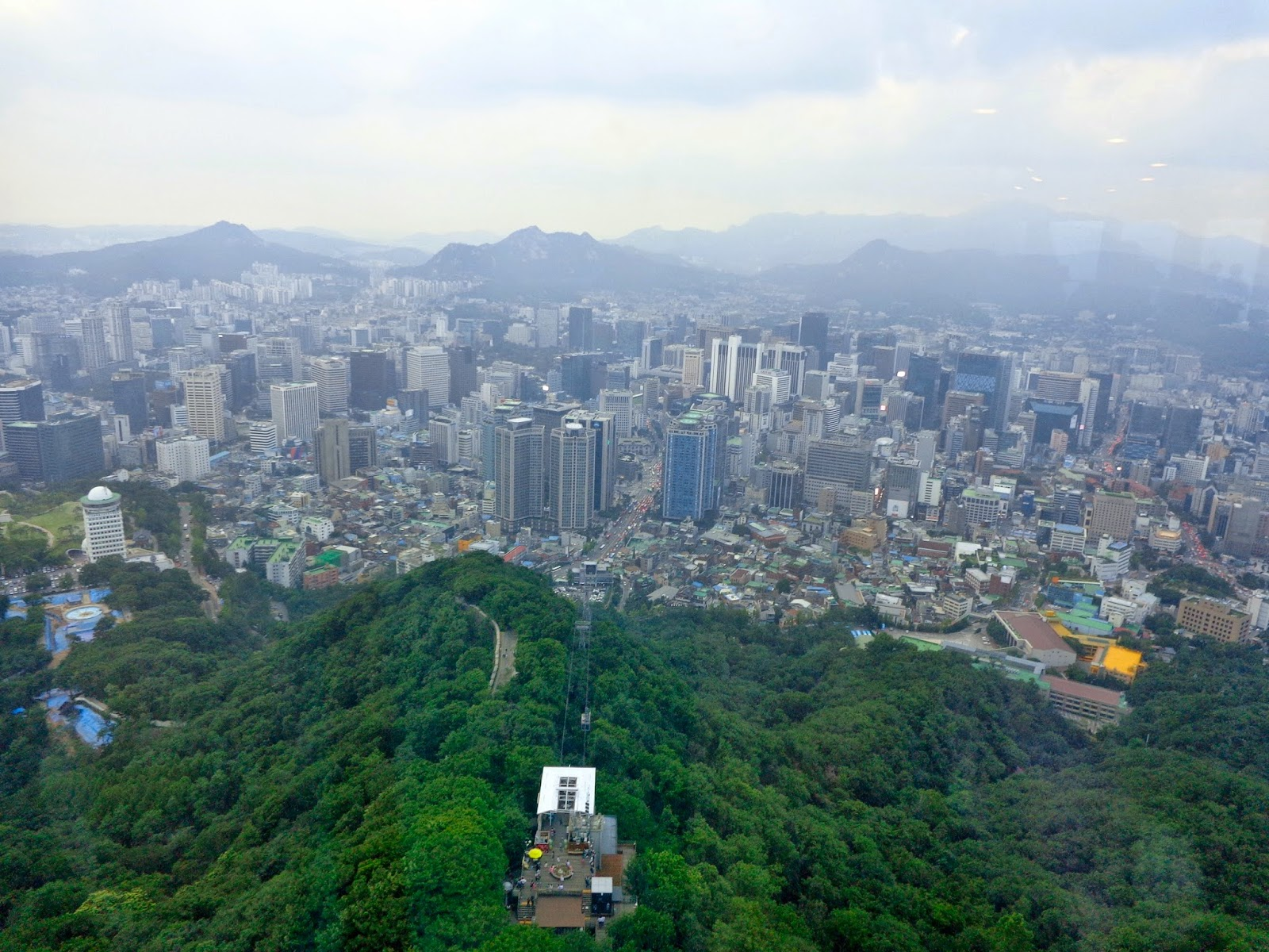 View from N Seoul Tower (Namsan Tower)