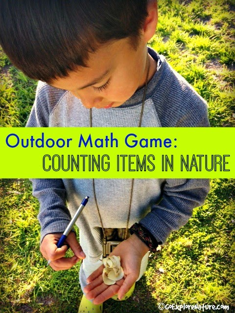 Outdoor Math Game: Counting Items in Nature