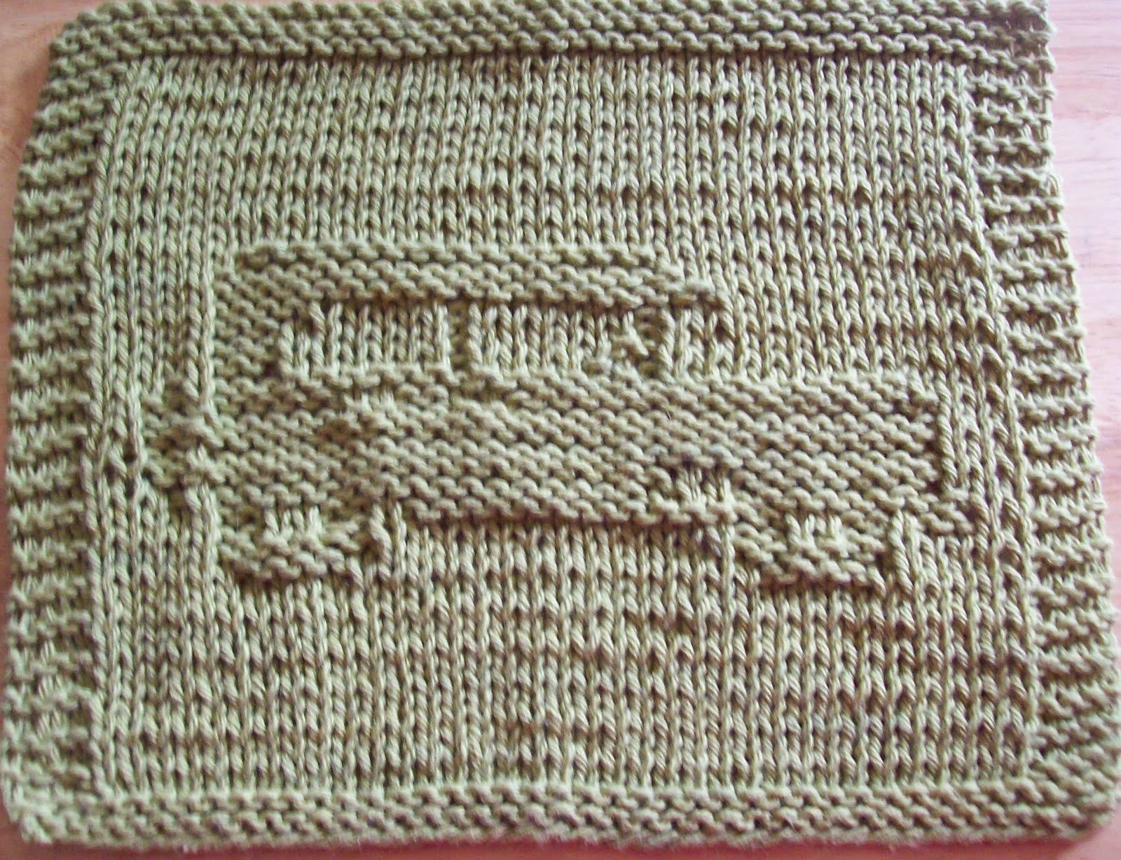 DigKnitty Designs: Antique Car Too Knit Dishcloth Pattern
