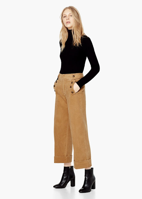 buttoned culottes