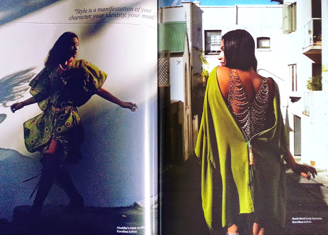 Dusk Devi, wearing Fijian designer Karalina by Carolyn Ah Koy, editorial for Mai Life STYLE, Fiji and the Pacific's first dedicated fashion and lifestyle magazine