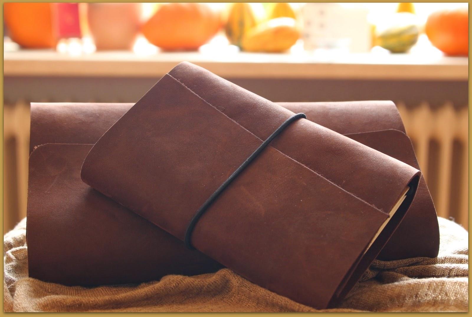 Midori fauxdori Travelers Notebook regular size and A6 in the make