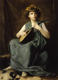 Edmund C. Tarbell, Marion Hiller Fenno at Nine as Mandolinata
