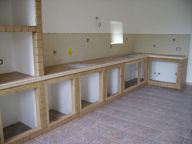 come costruire cucina in muratura
