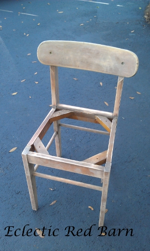 Stripped and sanded chair