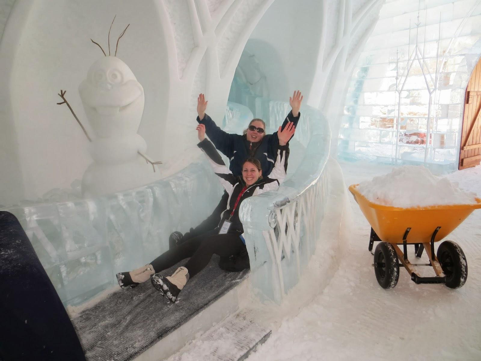 hotel de glace ice slide