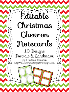 http://www.teacherspayteachers.com/Product/Christmas-Chevron-Editable-Notecards-Notepad-Thank-You-Cards-etc-1012059