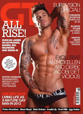 Duncan James Naked For Gay Times Magazine