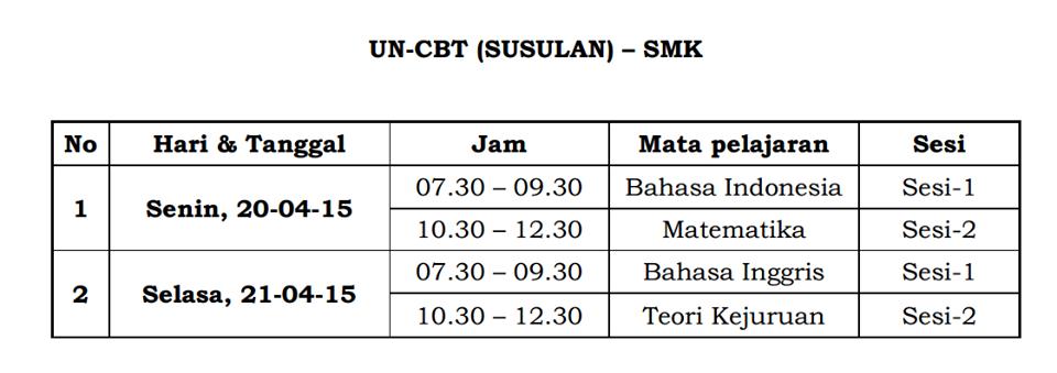 Jadwal Un Ujian Nasional 2015 Berita Terbaru