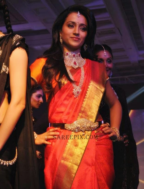 Trsiha-saree-NAC-Jewellers-Fashion-show